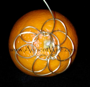 Ancient Wire Cloven Orange Ornament